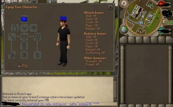 Hat in Runescape – $1,680