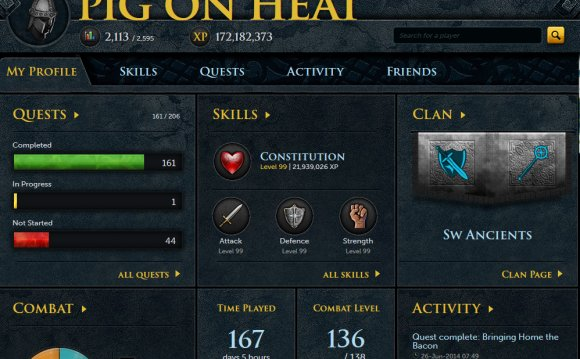 Runescape My account | RuneScape - Online Fantasy RPG