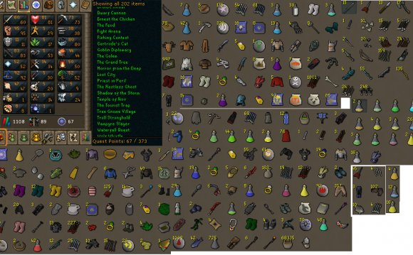 Total Level:1108 Quest