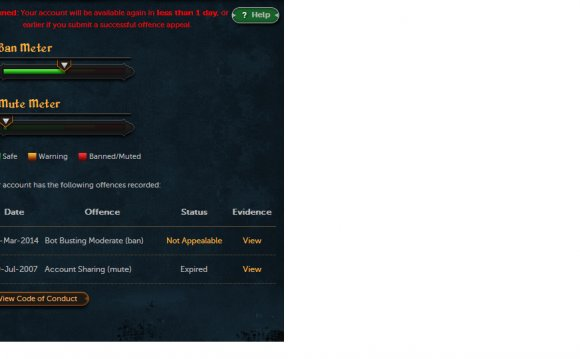 Runescape account status