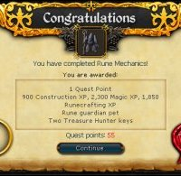 Congratulations! You have completed the Rune Mechanics Quest!
