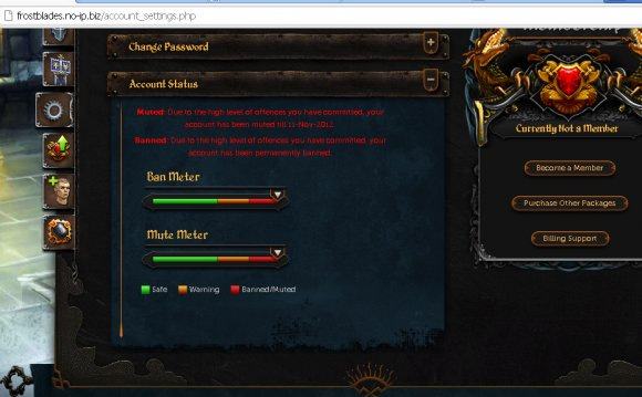 RuneScape account settings