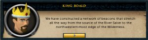 King Roald: We have constructed a network of beacons...