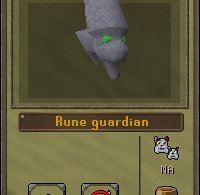 Rune Guardian summoning menu