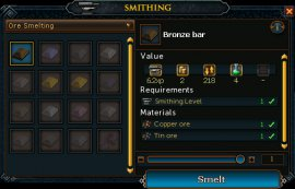 Smelting Options