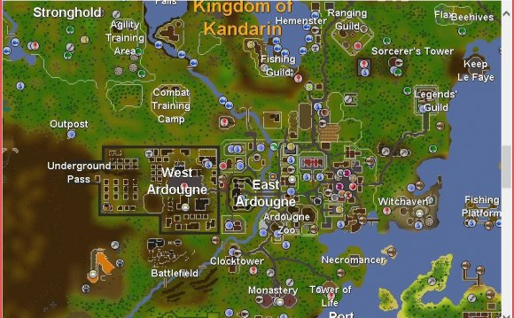 RuneScape map old School