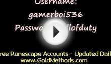 Free Runescape Accounts [2010] [Passwords] [No Surveys