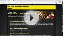 How To Cancel Membership at Golds Gym 2014