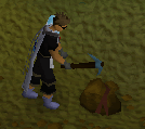 Zybez RuneScape Help's image of Player Mining Ore