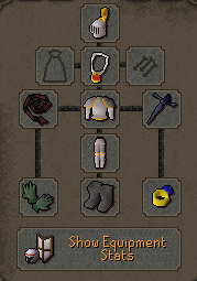 Zybez RuneScape Help's Level 20 Defence Pure Equipment Menu